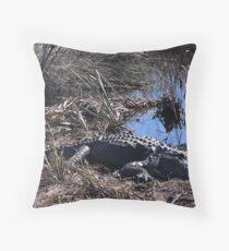St Marks Gator Throw Pillow