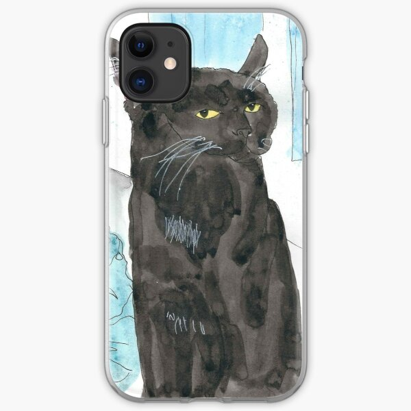 Davy Crockett, Cool Black Cat iPhone Soft Case