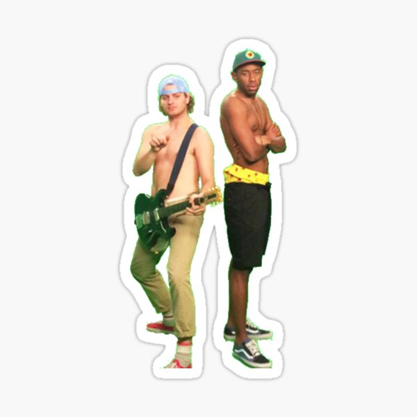 Mac Demarco and Tyler the Creator Sticker