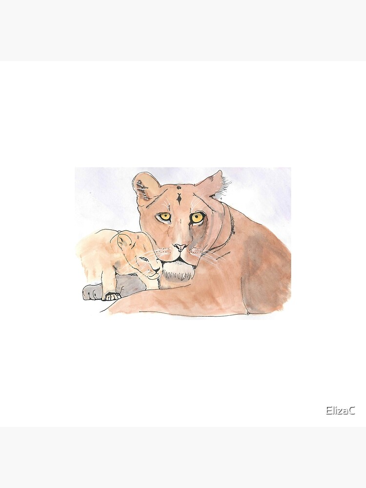 Lion and Cub by ElizaC