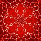 Jewels Kaleidoscope Neon Red by Dawne Dunton