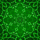 Jewels Kaleidoscope Neon Green by Dawne Dunton