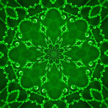 Jewels Kaleidoscope Neon Green by DAWNESROMEO
