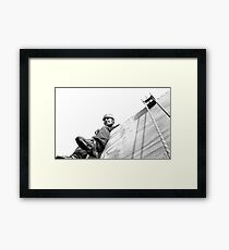 Abseil Platform - View From The Line Framed Print
