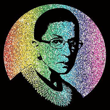 Ruth Bader Ginsburg Glitter Rainbow by shaggylocks