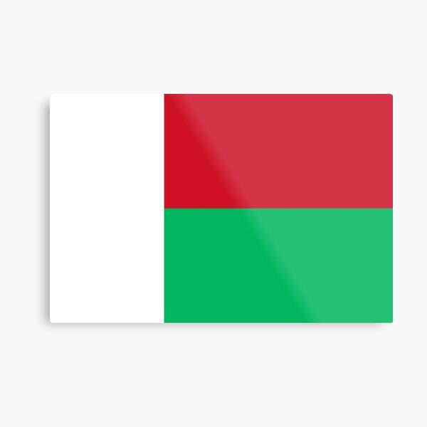 Madagascar Flag- Show your love for Madagascar! Metal Print