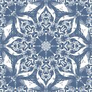 Denim Blue and White Mandala by Kelly Dietrich