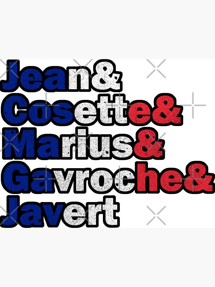 Les Misérables - Characters by PrintablesP