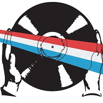 Luxembourgian Flag Vinyl by McFrys
