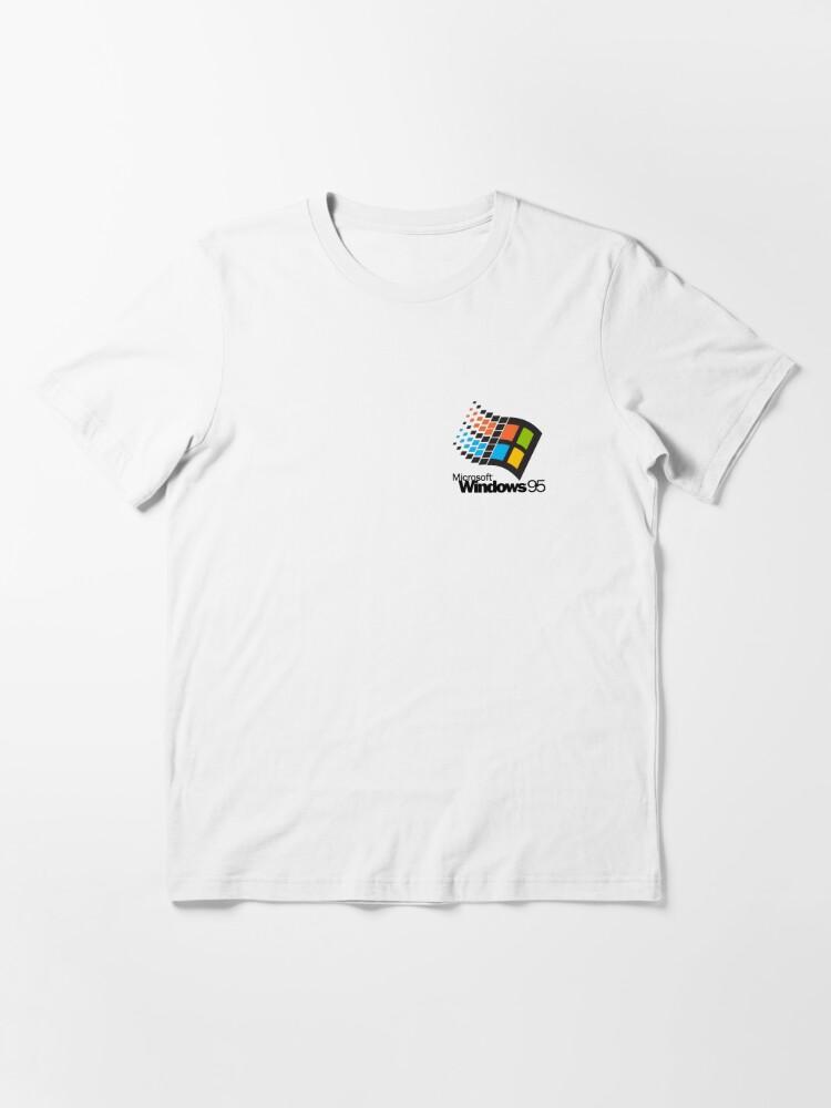 Alternate view of Windows 95 - Small Logo Essential T-Shirt