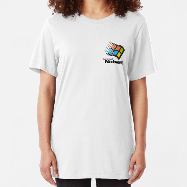 Windows 95 - Small Logo Slim Fit T-Shirt