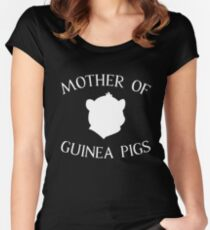GUINEA PIGS MOM Women's Fitted Scoop T-Shirt