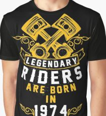 Legendary Riders Are Born In 1974 Graphic T-Shirt