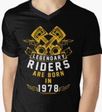 Legendary Riders Are Born In 1978 Men's V-Neck T-Shirt