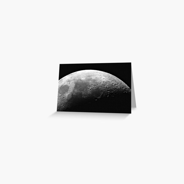 Craters on the Moon, Space Greeting Card