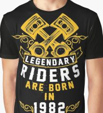 Legendary Riders Are Born In 1982 Graphic T-Shirt
