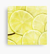 US Navy military federal lord texture look lemon slices yellow Metal Print