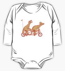 Radfahren Raptoren auf Tandem-Fahrrad Baby Body Langarm