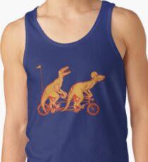 Cycling raptors on tandem bicycle Tank Top
