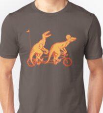 Cycling raptors on tandem bicycle Unisex T-Shirt