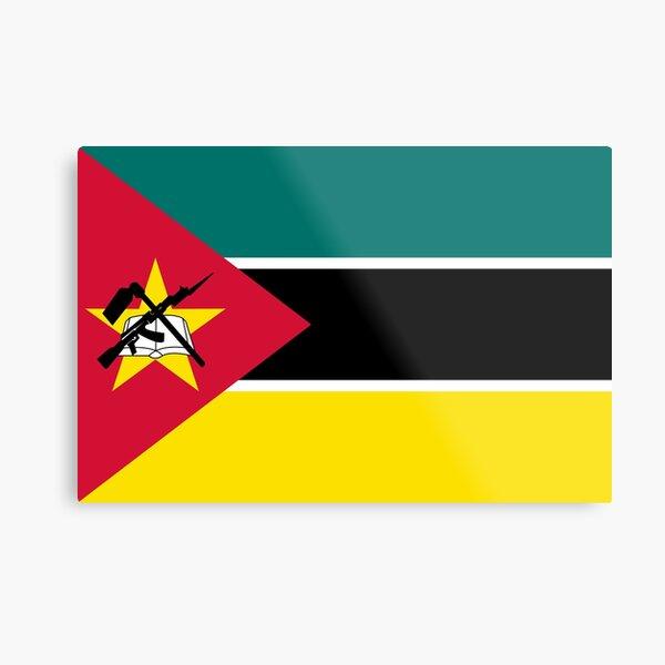 Mozambique Flag- Show your love for Mozambique! Metal Print