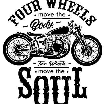 Four Wheels Vs. Two by Tiltedgiraffes