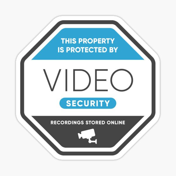 Video Security Sign Sticker