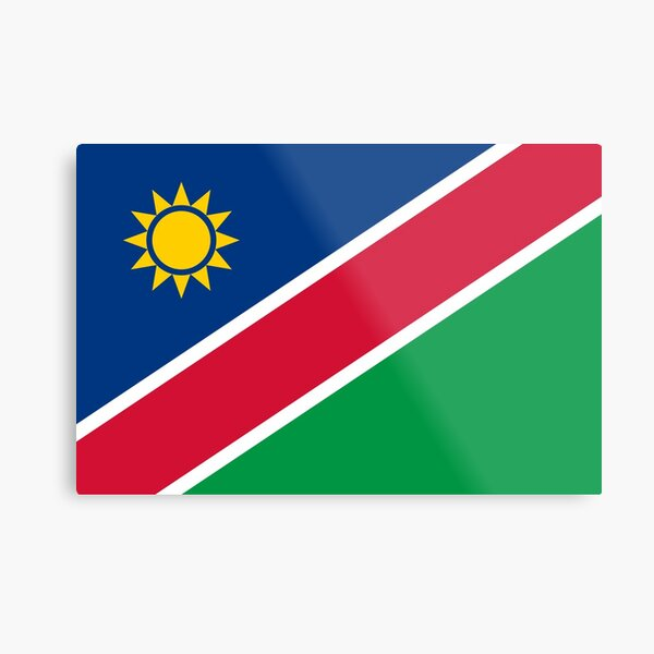 Namibia Flag- Show your love for Namibia! Metal Print