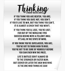 Thinking - Powerful Motivational Poem Poster Poster