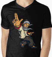 Quad Fang Finger Style Men's V-Neck T-Shirt