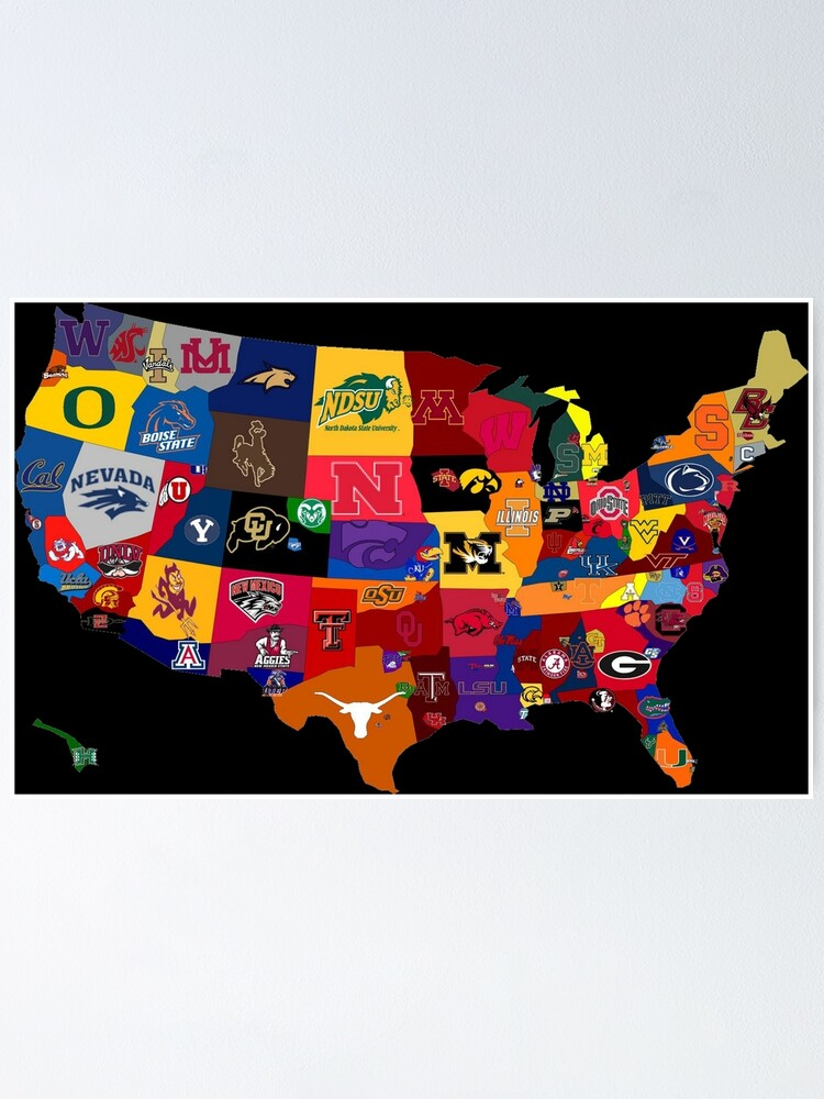 Alternate view of College Country Poster