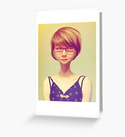 Enigmatic Smile Greeting Card
