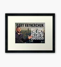Gary Vaynerchuk Hustle Poster Framed Print