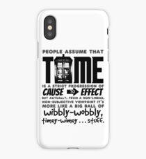 Wibbly-Wobbly Timey-Wimey...Stuff. iPhone Case/Skin