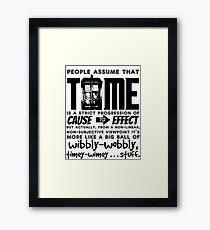 Wibbly-Wobbly Timey-Wimey...Stuff. Framed Print