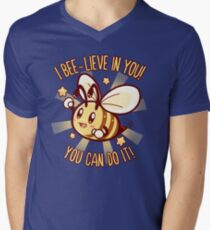 Beelieve in Yourself - Bee Pun V-Neck T-Shirt