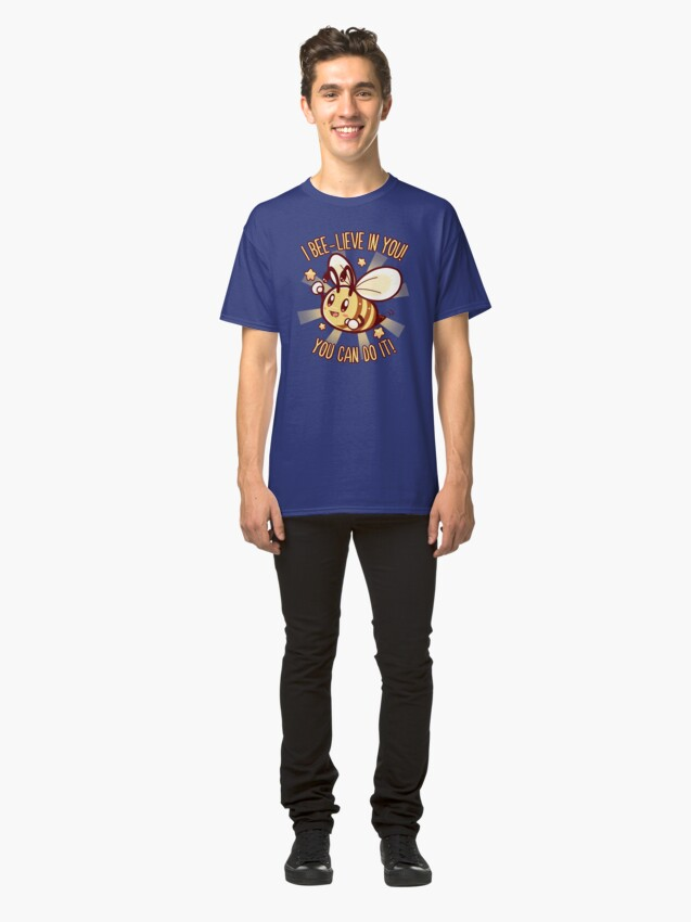 Alternate view of Beelieve in Yourself - Bee Pun Classic T-Shirt