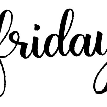 Friday Calligraphy Label by the-bangs