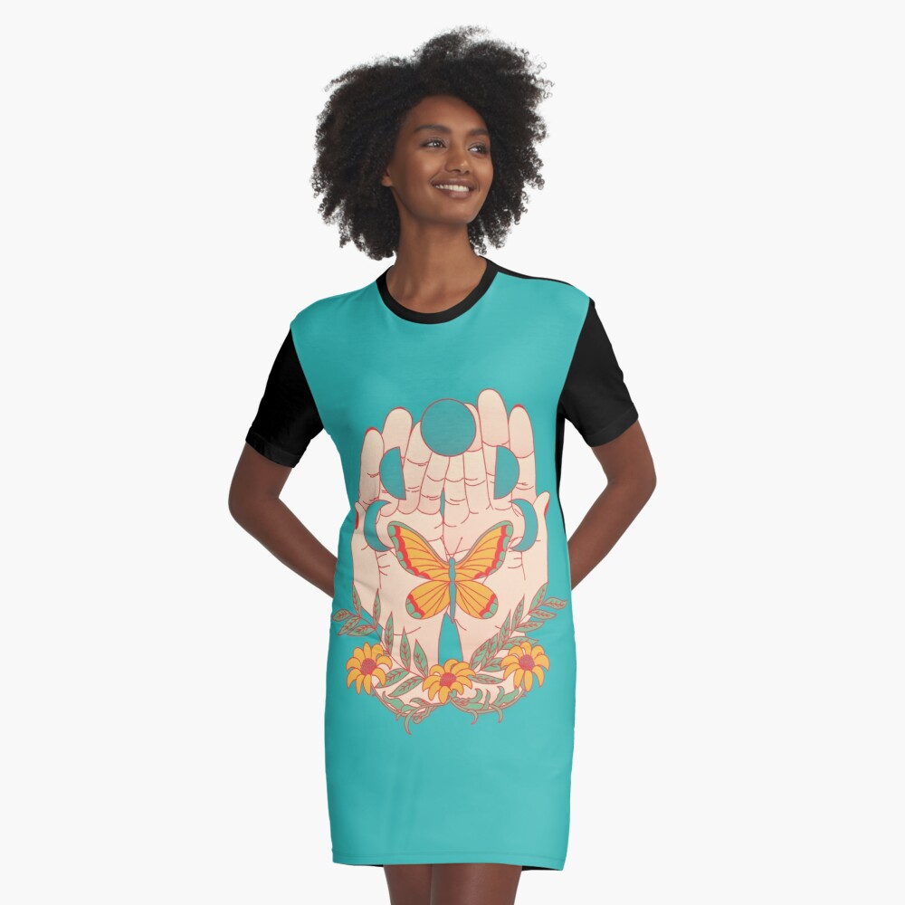 In Her Hands Graphic T-Shirt Dress