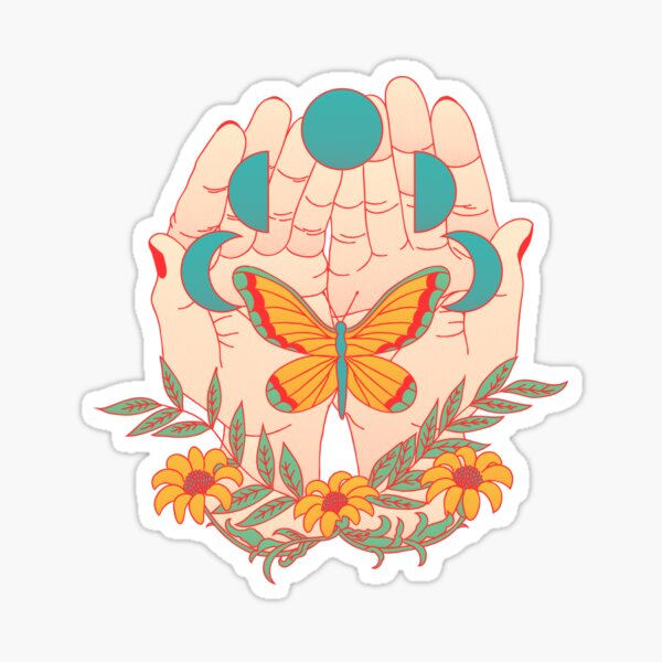 In Her Hands Sticker