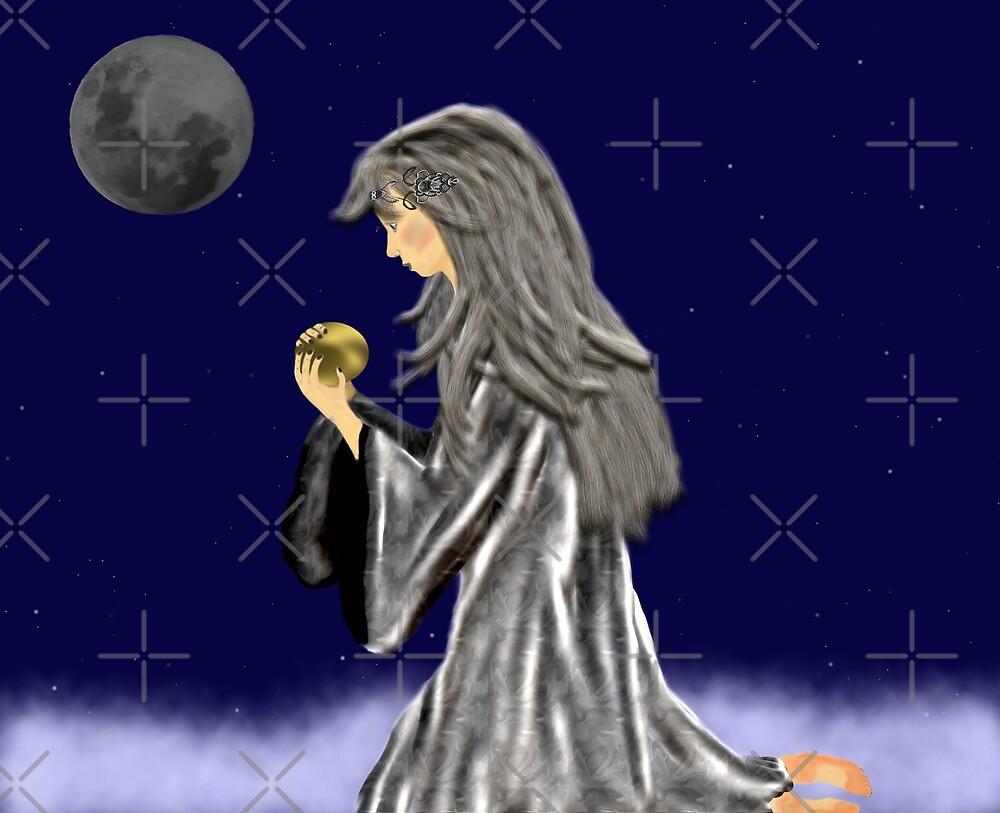 Kneeling Moon Child by Sandra Chung