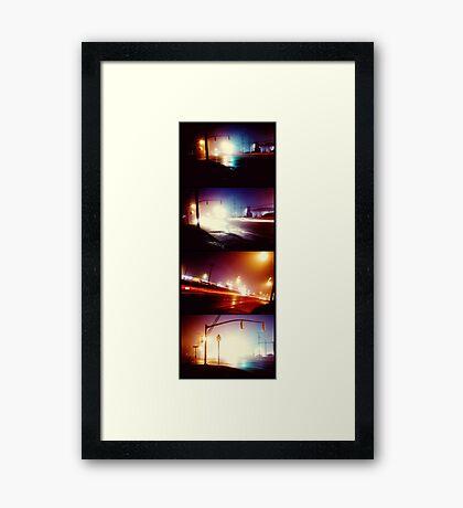 lights in the mist Framed Print