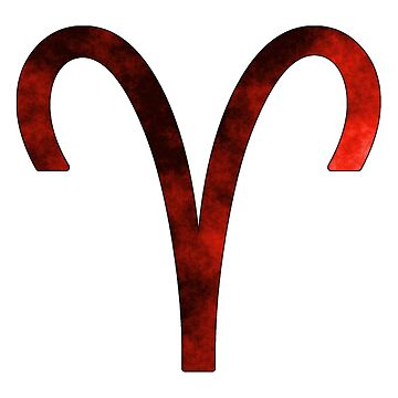 Aries Zodiac Symbol (Red) by bigbadbear