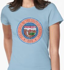 ARIZONA STATE SEAL - POPULAR DISTRESSED STATE DESIGN WITH ARIZONA STATE SEAL Women's Fitted T-Shirt