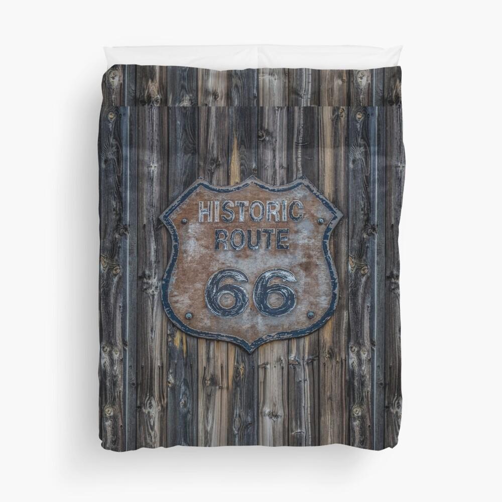 Route 66 Emblem Duvet Cover