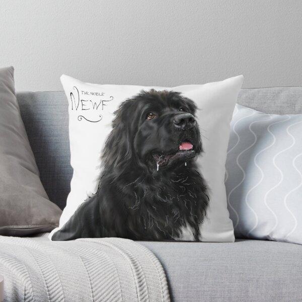The Noble Newfoundland Dog Throw Pillow