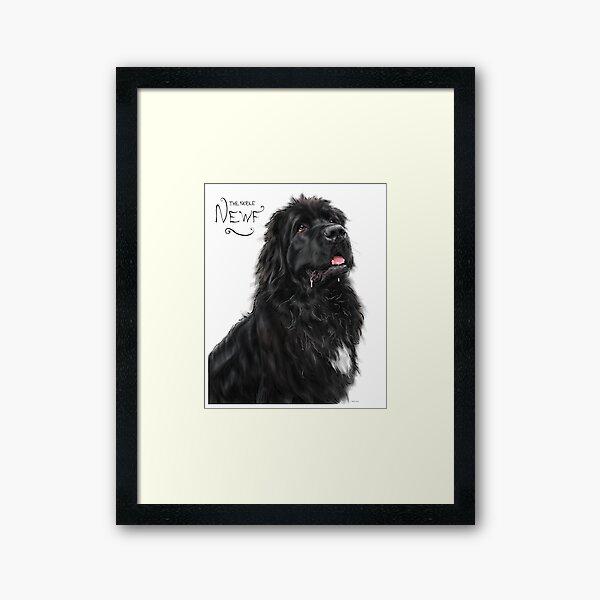 The Noble Newfoundland Dog Framed Art Print