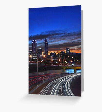 Perth City At Dusk  Greeting Card