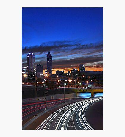 Perth City At Dusk  Photographic Print