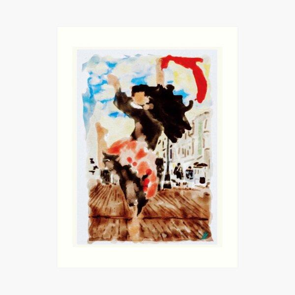 Dancing in Sevilla  Art Print